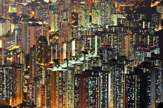apartment building at night