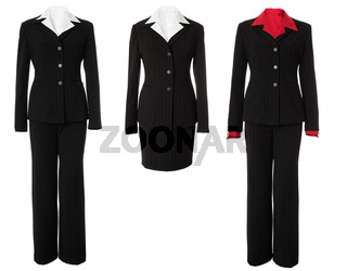 Female business suit set | Isolated