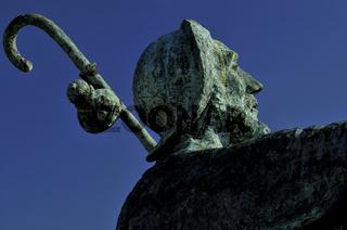 Pilgermonument am Monte de Gozo Galicien