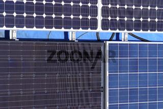 Verschiedene Solarflächen