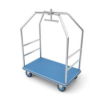 Silver luggage cart