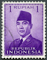 INDONESIA - 1951: shows President Sukarno (1901-1970)