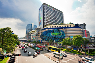 Big automobile stopper near the shoping centre in Bangkok