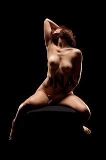 low key photo of sexy woman body