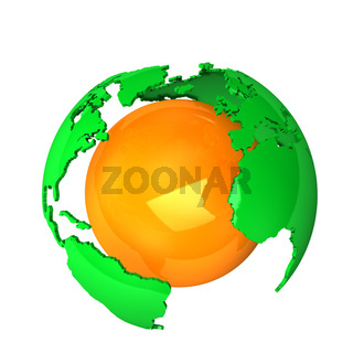 Green Orange Earth