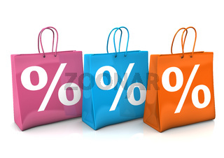 Shopping Bags Percent