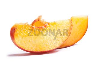 slices of peach