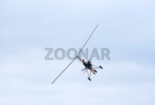 Ultralight autogyro in flight