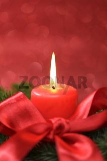 weihnachtliches Kerzengesteck