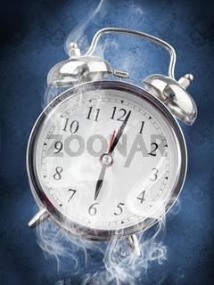 Smoking hot alarm clock