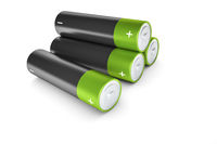 black and green batteries