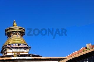 Tsuklahang-Tempel mit alles sehenden Augen   Gyantse  Tibet China