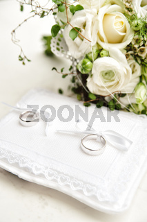 Wedding Rings on a Pad