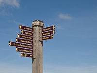 Signpost in Wittduen, Germany