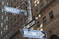 Wall Street Sign, Manhattan in New York City (USA)