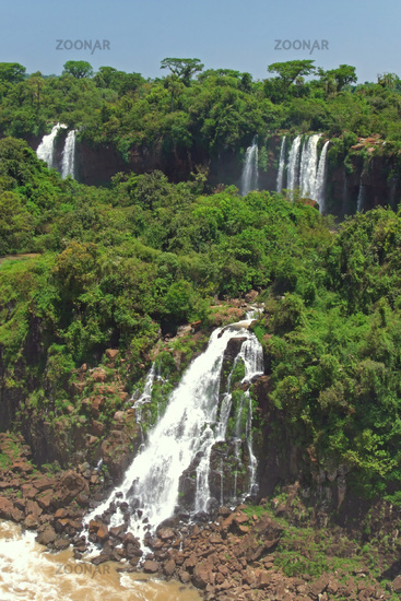 Waterfalls of Iguaz in Argentina