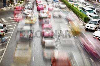 Traffic on the streets. Bangkok