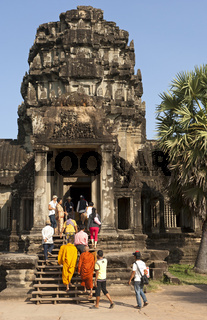 Eingangsportal zum Angkor Wat Tempel, Kambodscha