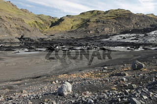 Sólheimajökull - one of the outlet glaciers (glacier tongues) of the Mýrdalsjökull ice cap