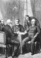 Negotiations for surrender with Jules Favre, Otto von Bismarck a