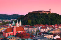 Slovenian Capital Ljubljana at Dusk