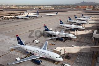 US Airways Flugzeuge in Phoenix / Arizona