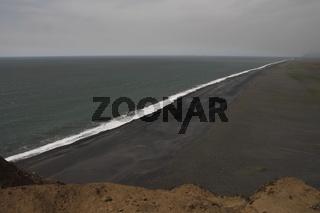Black basalt beach as seen from Dyrhólaey cliffs