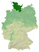 Schleswig-Holstein - topographical relief map