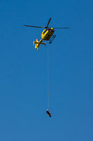 SAR Helicopter with rope