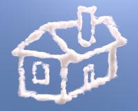 House shape clouds