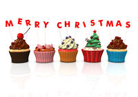 Cupcakes Merry Christmas