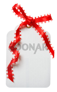 Price Tag with Red Ribbon
