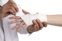 Supply an injured hand