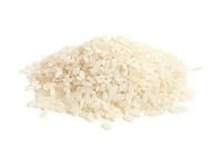 White round grain rice