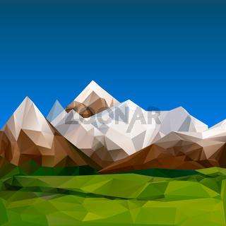 Mountainous terrain, polygonal background