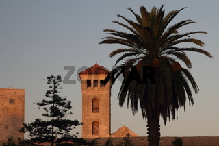 Church tower in the Portuguese Fortified City of Mazagan. El-Jadida