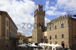 Rathaus und Zentrum von Arezzo