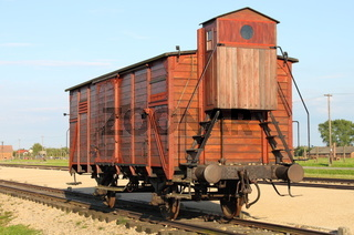 Deportation wagon at Auschwitz