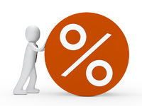 man roll orange percent circle