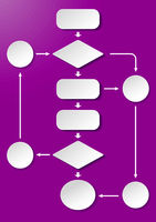 Long Flowchart Purple Background