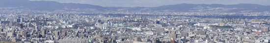 Panorama view of Osaka bay
