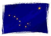 Grunge Alaska flag