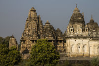 Vishvanath and Parvati temples of the Western Group of Temples in Khajuraho