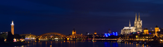 Panorama of Cologne at twilight
