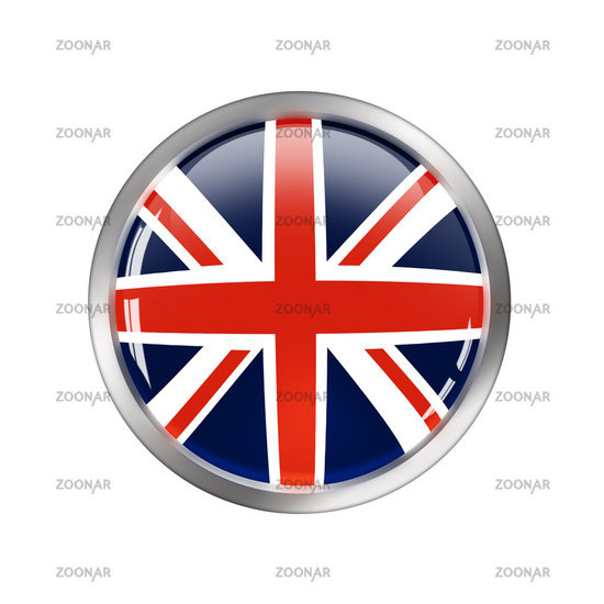 National Flag of uk, button