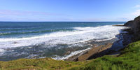 panorama of a wild coast