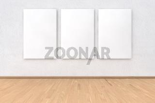 Wand mit Rahmen in 3 Teilen
