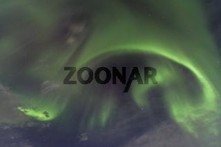 Nordlicht-Corona (Aurora borealis), Alesjaure, Lappland