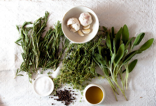 Bunch of herbs for cooking