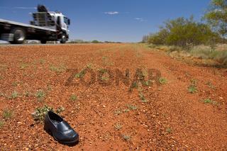 Verlorener Schuh im Outback